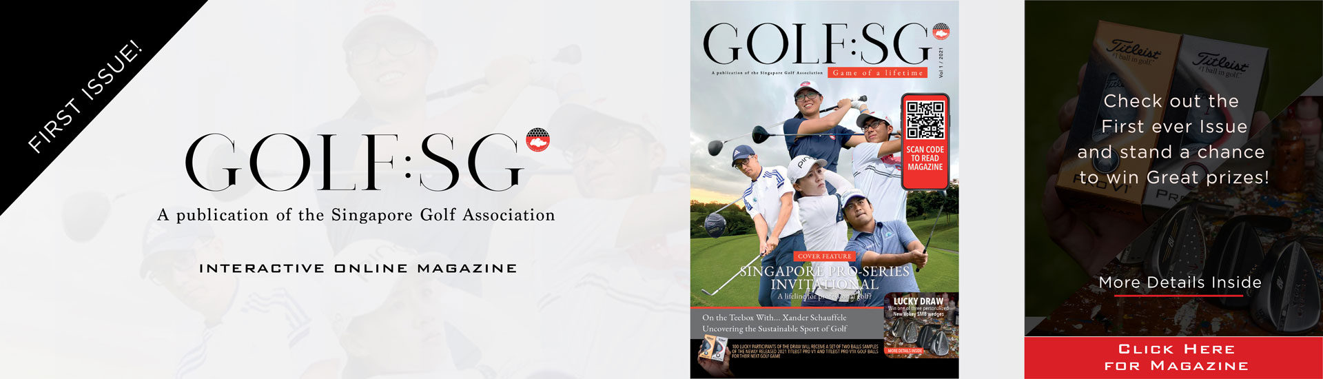 The first issue of Golf:SG is now available